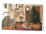 Christmas Morning Printed Custom Greeting Card