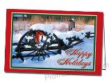Snowy Holiday Custom Printed Greeting Card
