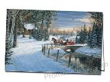 Holiday Sleigh Ride Logo Printed Greeting Card