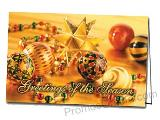 Shimmering Ornaments Promotional Greeting Card