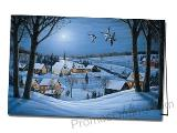 Silent Night Printed Custom Greeting Card
