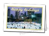 Skating Holiday Printed Custom Greeting Card