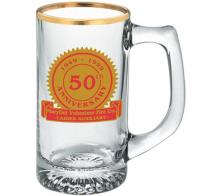 13 oz Custom Printed Glass Starburst Mug