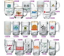13 oz Glass Printed Logo Thumbprint Mug