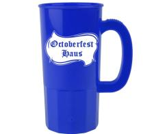 - 22 oz Personalized Plastic Beer Mug Cups -