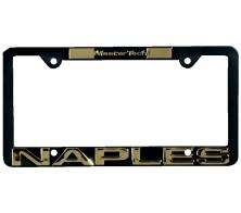 Raised Letter Custom Printed License Plate Frame