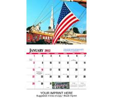"""Patriotic America"" Full Color Calendars"