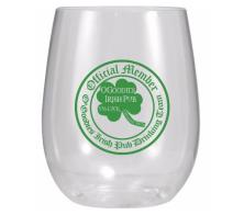 12 oz Printed Stemless Plastic Wine Glass