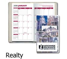 Monthly 2 Color Pocket Planner Calendar With Full Color Custom Digital Cover