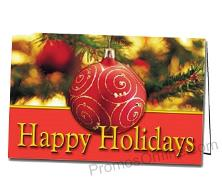 Happy Holidays Customized Printed Greeting Card