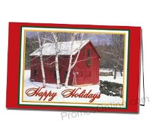 Holiday in the Country Custom Greeting Card