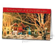 Village Glow Logo Custom Greeting Card